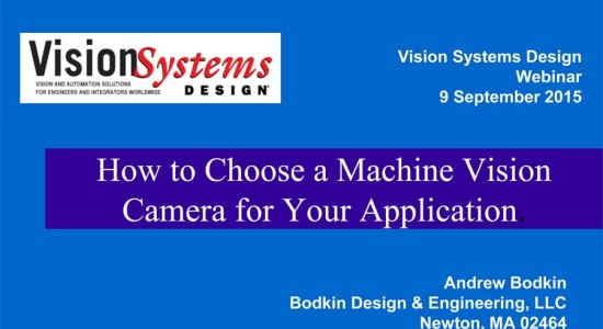 Webinar: How to Choose a Machine Vision Camera