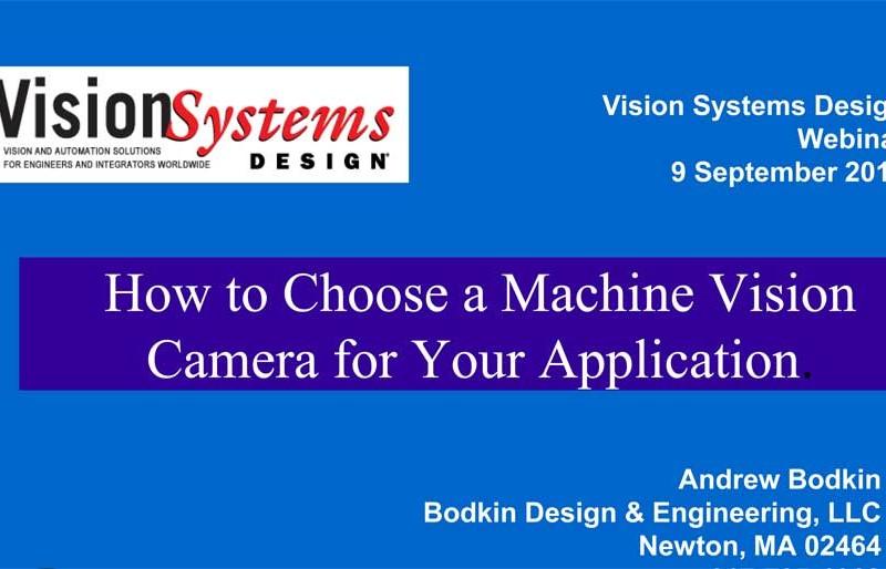 Webinar: How to Choose a Machine Vision Camera